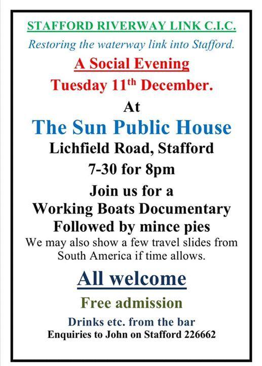 Stafford Riverway Link - Social Evening