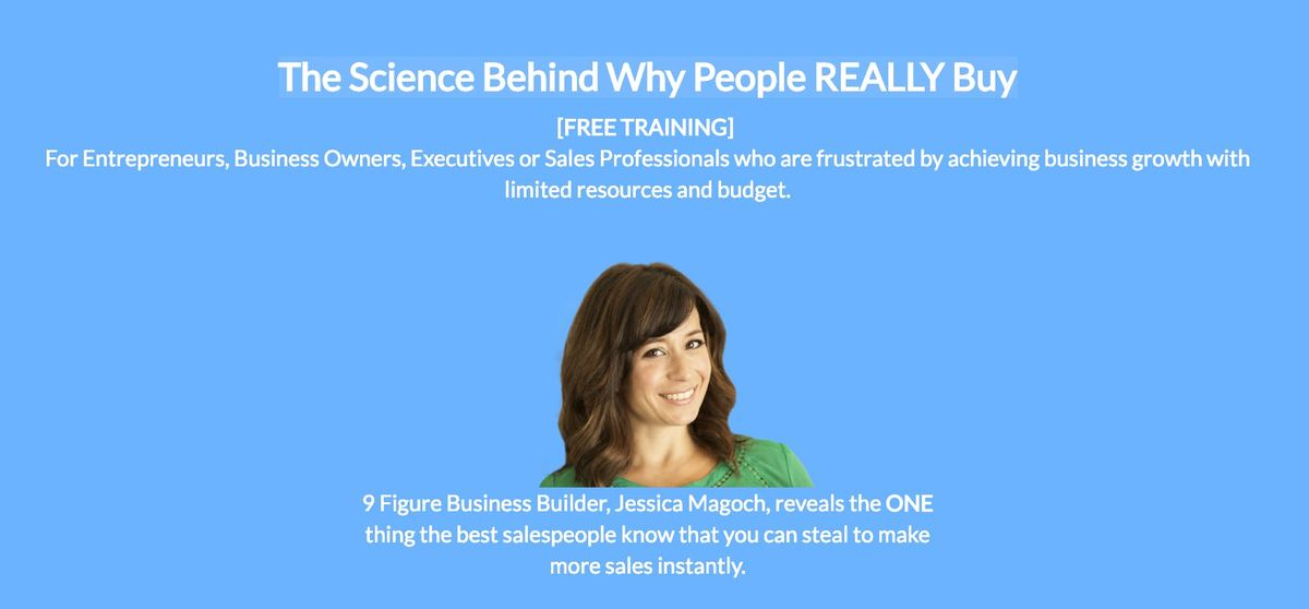 Chicago The Science Behind Why People REALLY Buy [FREE ONLINE B2B SALES TRAINING]