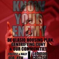 Protest Bill de Blasio Mayor Enemy of Our Communities