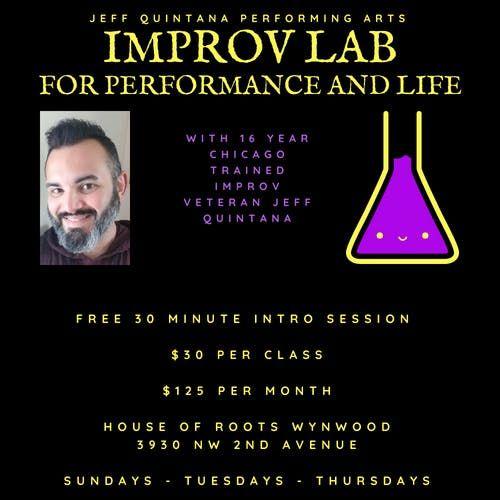 Wynwood Improv Lab For Performance And Life Classes February Sundays