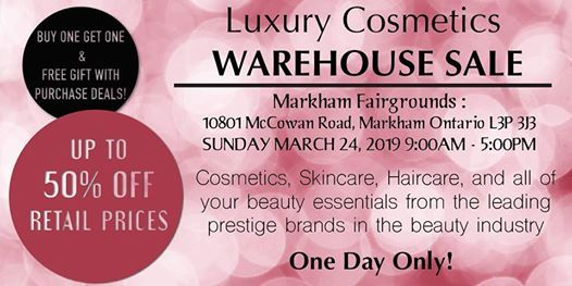 Special Invitation Warehouse Sale - March 24 2019