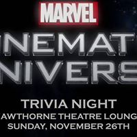 Marvel Universe Trivia at Hawthorne Theatre Lounge 1126