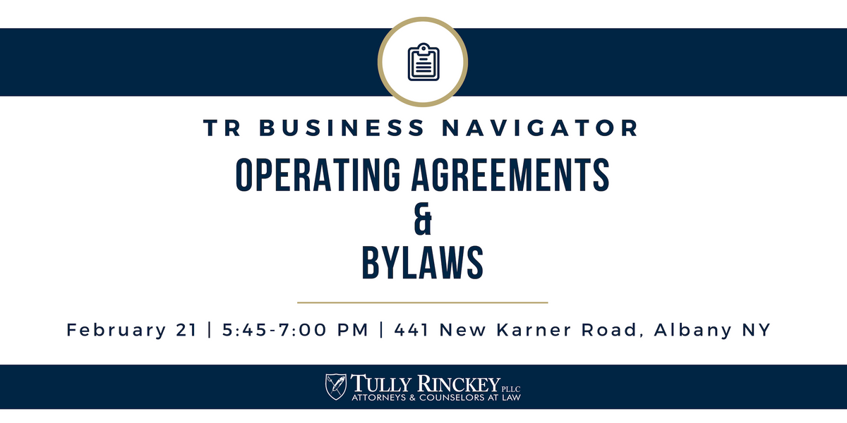 TR Business Navigator Operating Agreements and Bylaws