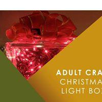 Adult Craft Christmas Light Box