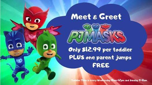 PJ Mask Meet & Greet Toddler Time at Sky Zone Lee's Summit