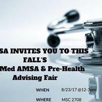 USF Pre-Med AMSA  Pre-Health Advising WOW Tabling Fair