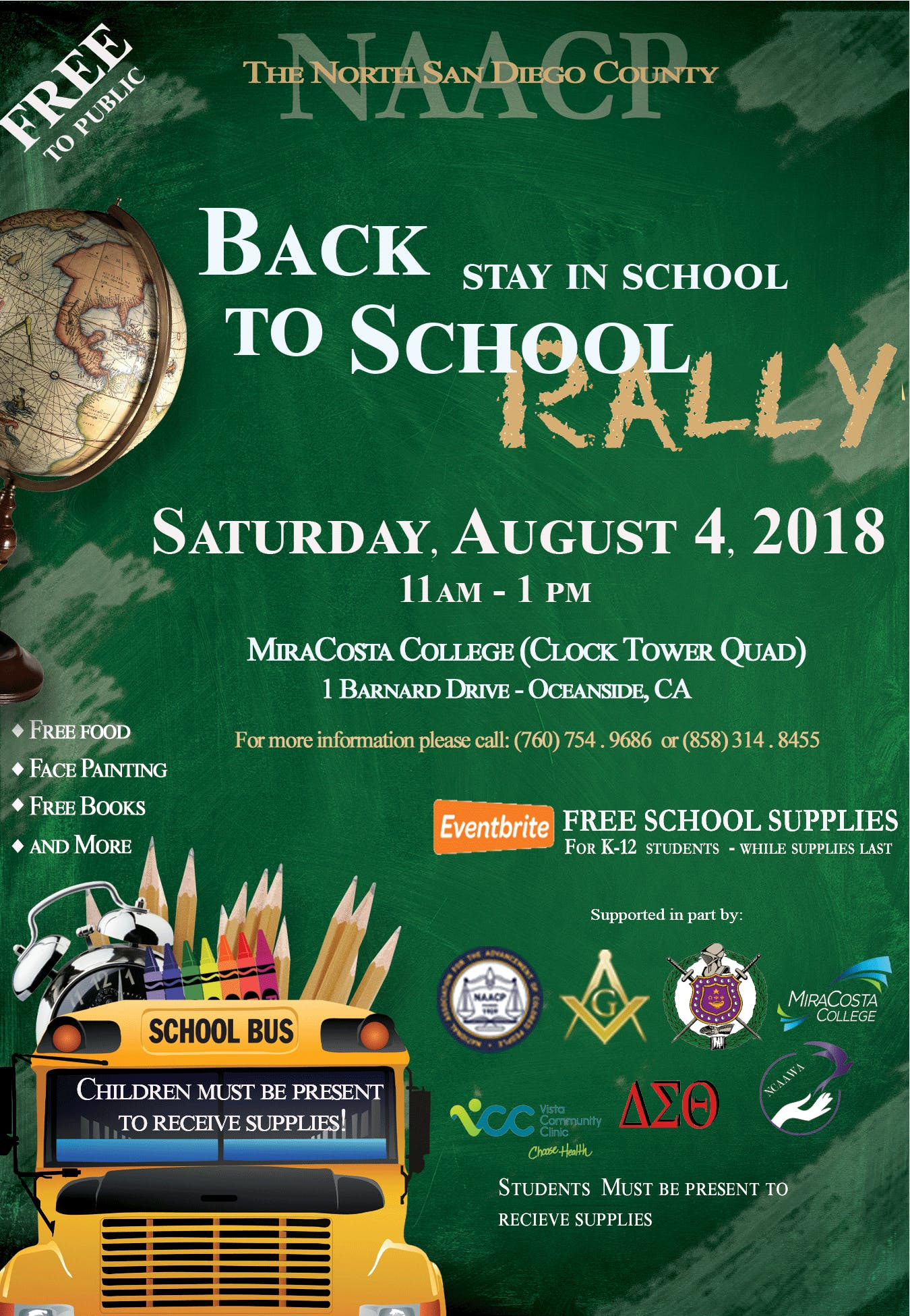 2018 BACK TO SCHOOL STAY IN SCHOOL - BACKPACK GIVE-AWAY at MiraCosta