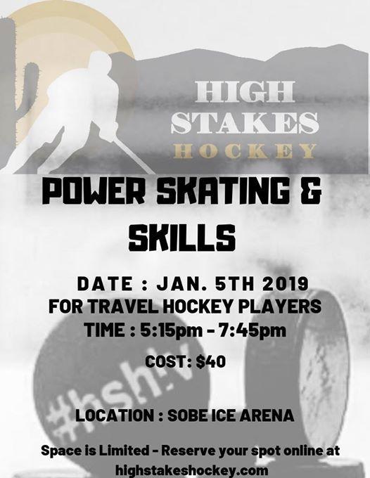Power Skating And Skills Clinic At Sobe Ice Arena Nevada
