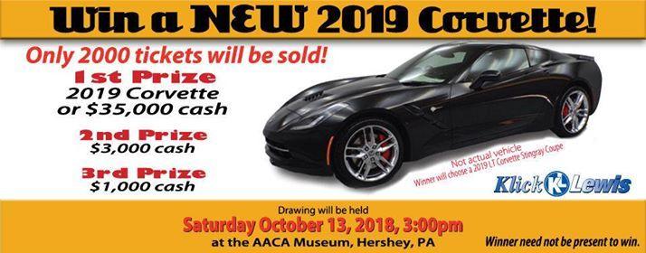 AACA Museum, Inc  2019 Corvette Raffle at AACA Museum, Inc