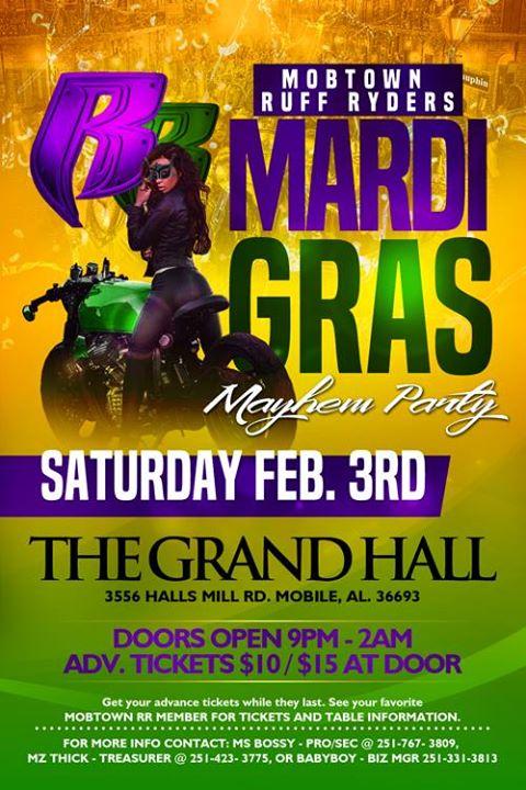 2018 Mardi Gras Mayhem Hosted By: Mobtown Ruff Ryders at Mobile, AL
