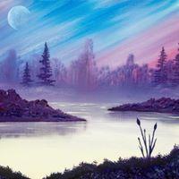 Moonrise Morning