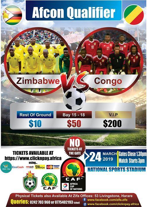 AFCON Qualifier - Zimbabwe vs Congo
