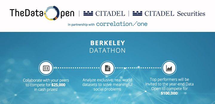 UC Berkeley Datathon with Citadel at Jacobs Hall, Studio 310, Berkeley