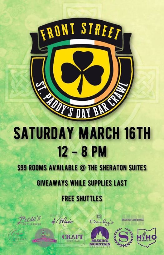 St. Paddys Day Bar Crawl on Front Street