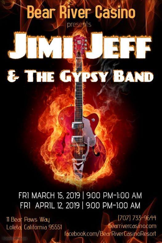 Bear River Casino With Jimi Jeff The Gypsy Band Loleta