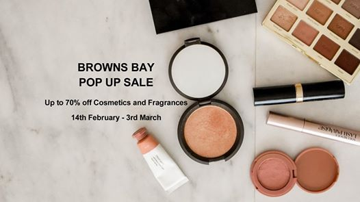 Bowns Bay Pop Up Cosmetics and Fragrance Sale