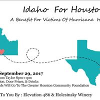 Idaho For Houston  A Benefit For Victims Of Hurricane Harvey