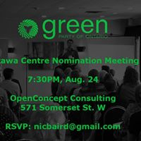 Green Party of Ontario Nomination Meeting for Ottawa Centre