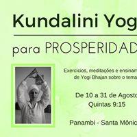Kundalini Yoga para Prosperidade - 10 a 31 de Agosto