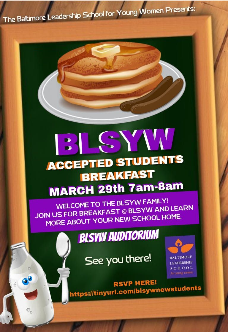 BLSYW Accepted Students Breakfast