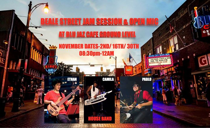 Beale Street Jam Session & Open Mic at Blu Jaz Cafe