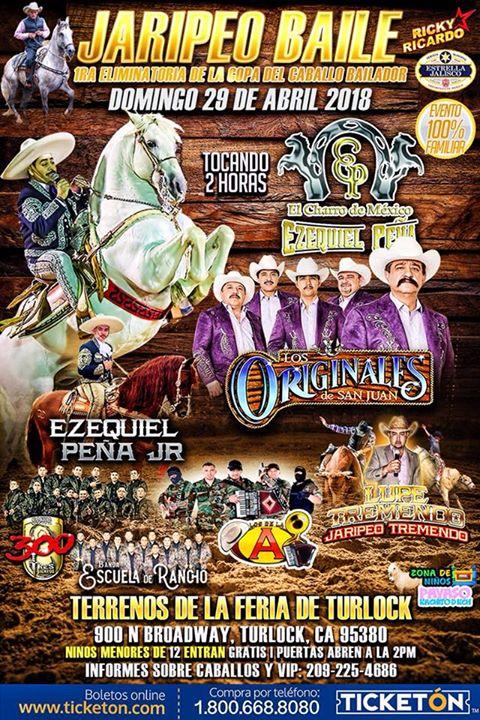 GRAN JARIPEO BAILE DOMINGO 29 DE ABRIL EN TURLOCK CA