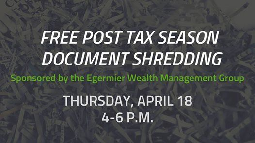 Free Post Tax Season Document Shredding