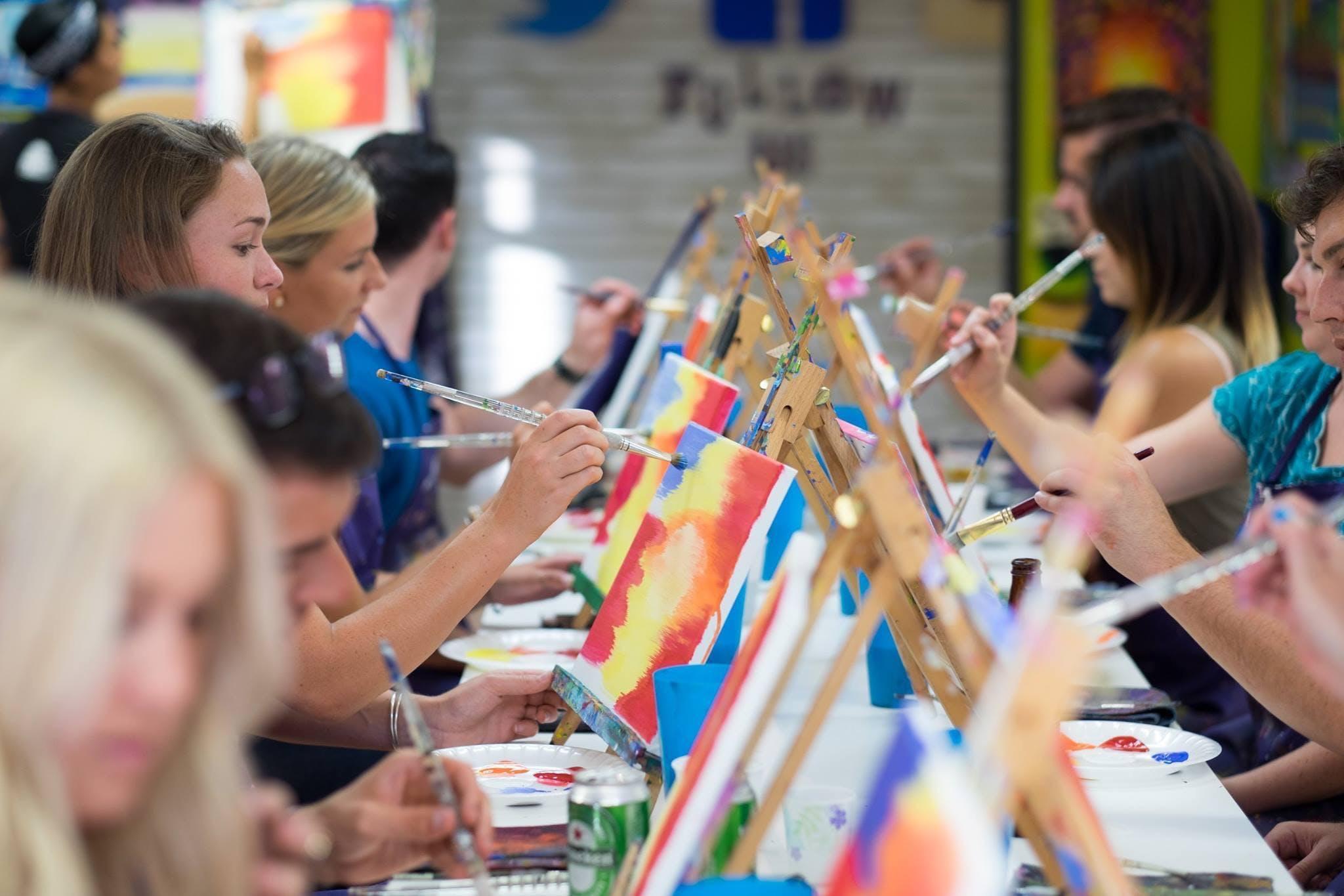 Singles Byob Meet Greet At A Painting Fiesta Pompano Beach