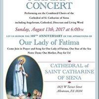 Marian Concert for 100th anniversary of Fatima