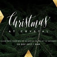 Christmas at Crystal (No Service on the 24th Dec 2017)