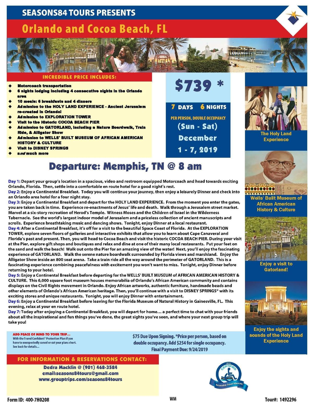 THE HOLY LAND EXPERIENCE, BEAUTIFUL BEACHES & TAX FREE SHOPPING