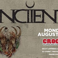 Anciients - Monday August 14th at Crocks