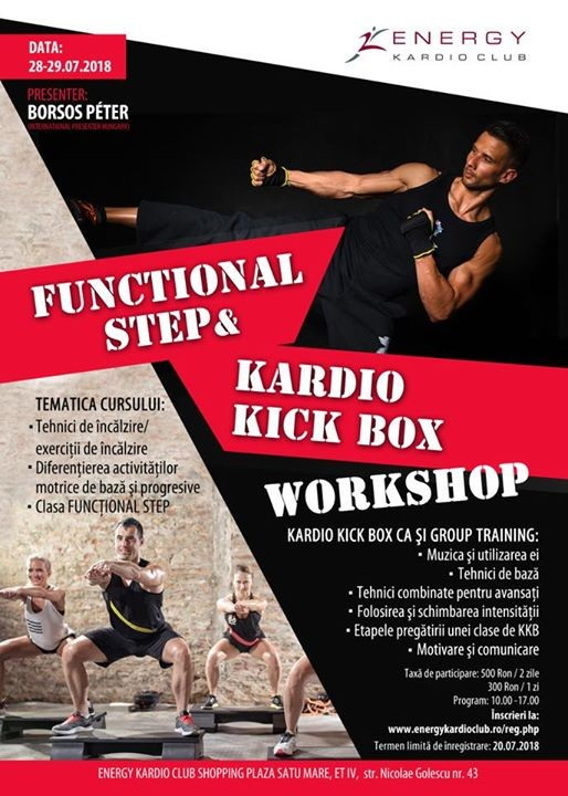 FUNCTIONAL STEP & KARDIO KICK BOX WORKSHOP