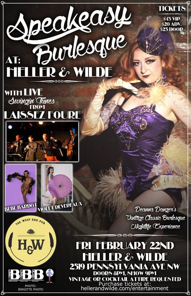 Speakeasy Burlesque at Heller & Wilde