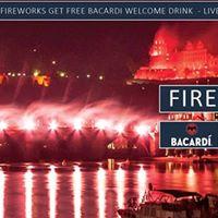 Schlossbeleuchtung-Fireworks Party