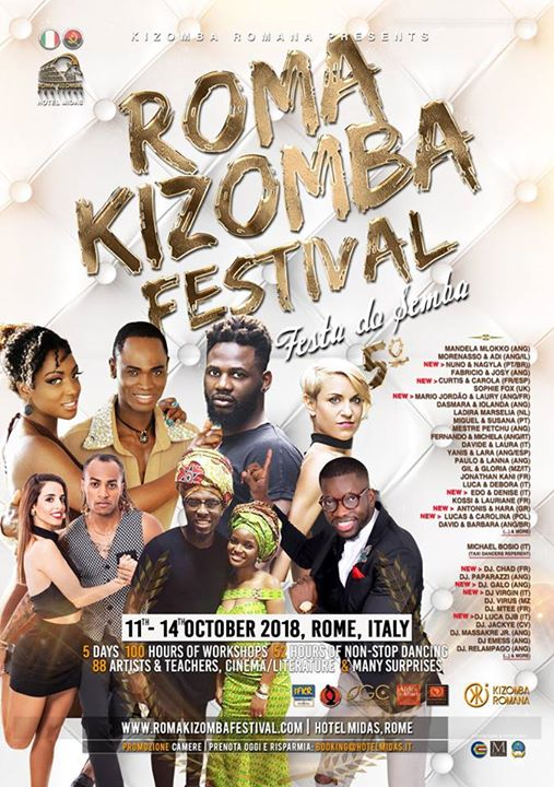 Roma Kizomba Festival - Festa do Semba 11-15 Oct. 2018 5 Ed.