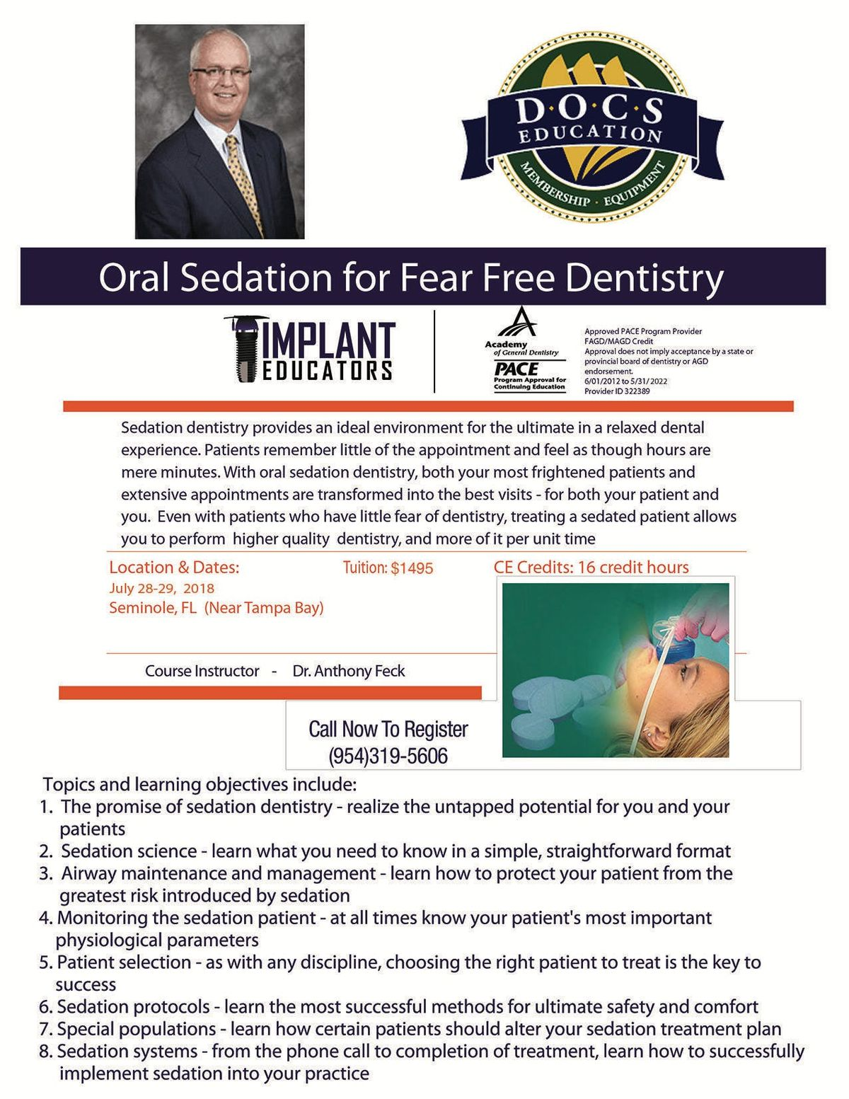 Oral Sedation Dentistry with Dr  Tony Feck  DOCS at Hampton