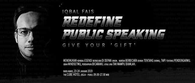 Workshop Redefining Public Speaking