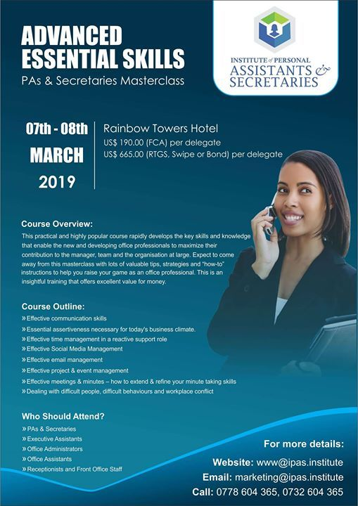 Advanced Essential Skills for PAs & Secretaries Masterclass