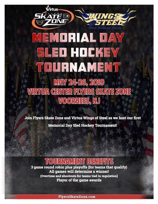Wings Of Steel Memorial Day Sled Hockey Tournament At Virtua Center