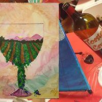Glass of Vineyard Painting