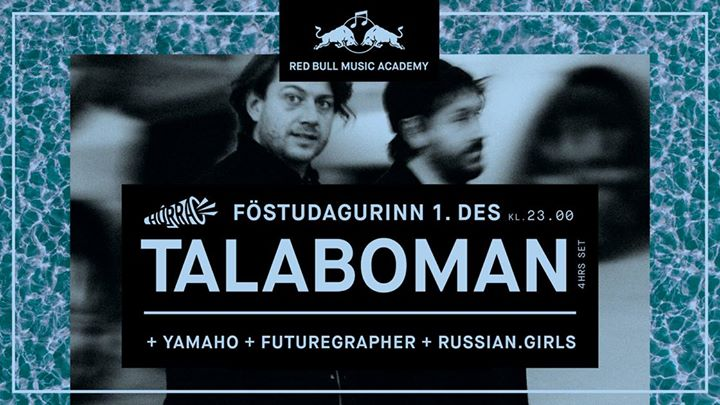 RBMA Club Night w TalabomanFree-entry