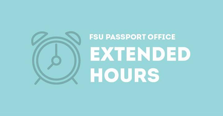 SDSU Passport office hours sign