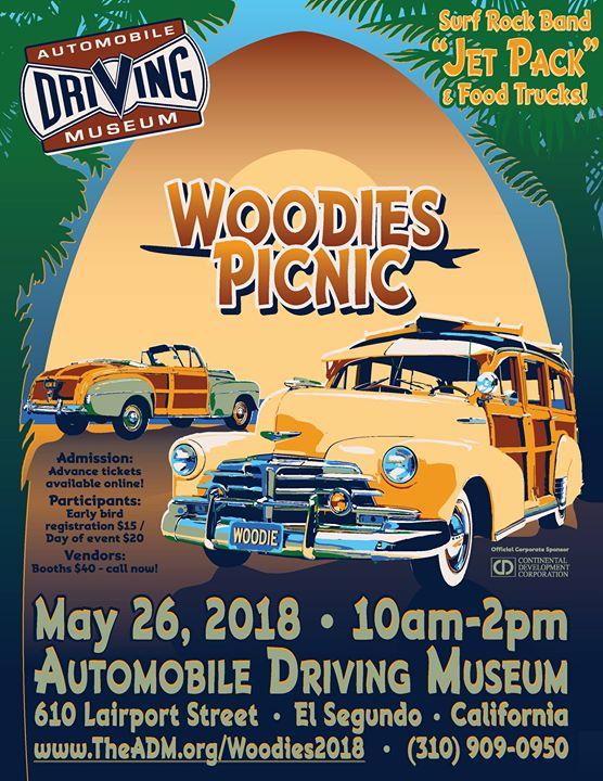 Woodies Picnic And Car Show At Automobile Driving Museum El Segundo - El segundo car show