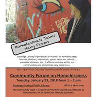 Saratoga County Community Forum on Homelessness