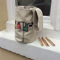 Free Machine Embroidered Peg Bag with Julia Warnes
