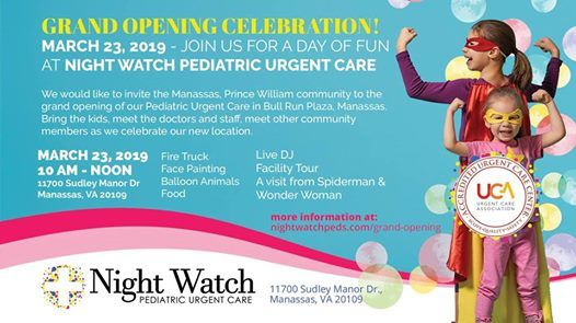 Grand Opening Celebration - Night Watch Pediatric Urgent