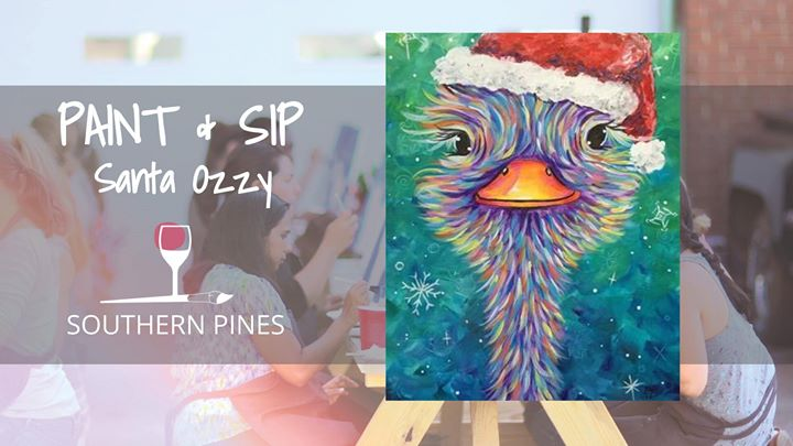 Santa Ozzy Paint And Sip At Wine Design Southern Pines