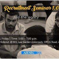Recruitment Seminar 1.0