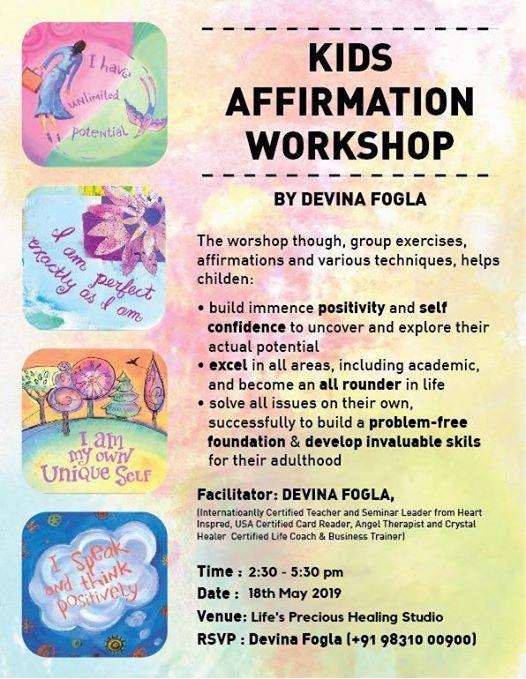 Positive Affirmations Workshop for Kids aged 8-16